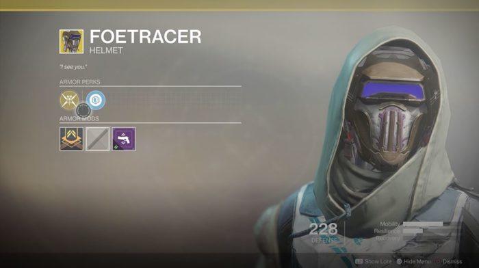 Destiny 2 Foetracer Hunter Helm