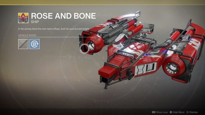Destiny 2 Rose and Bone