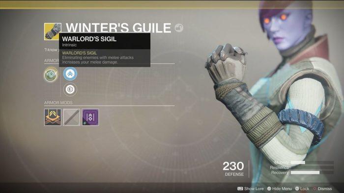 Destiny 2 Winter's Guile
