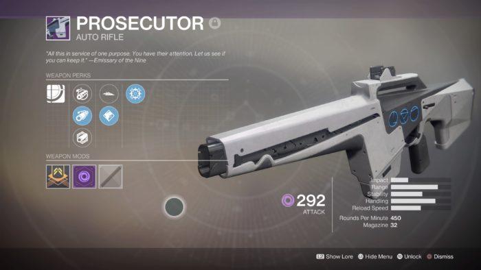 destiny 2 prosecutor