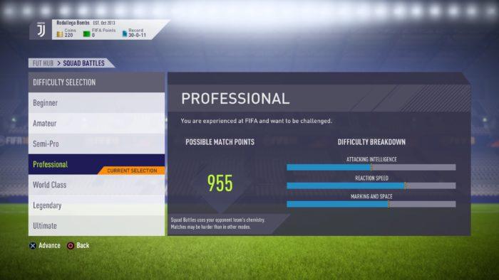FIFA 18 FUT Squad Battles (In Menus)