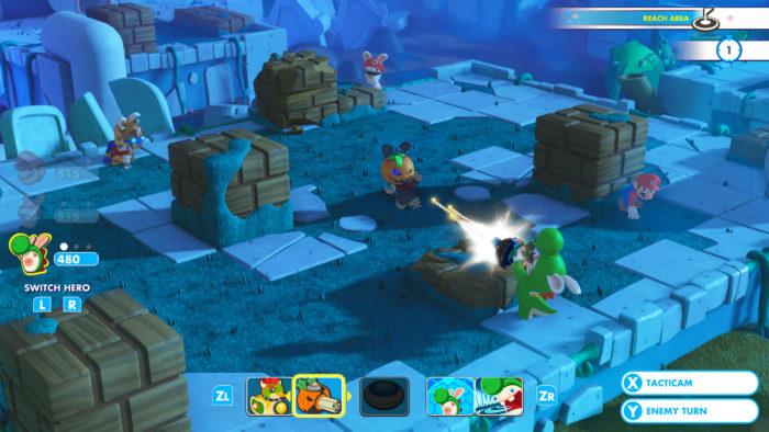 Mario + Rabbids Gameplay Rabbid Yoshi