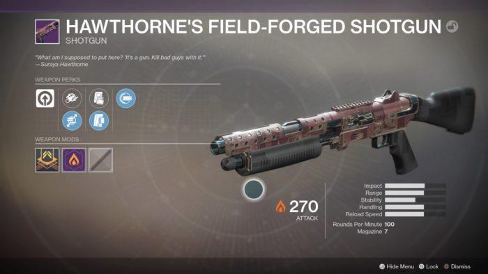 destiny 2 hawthorne shotgun