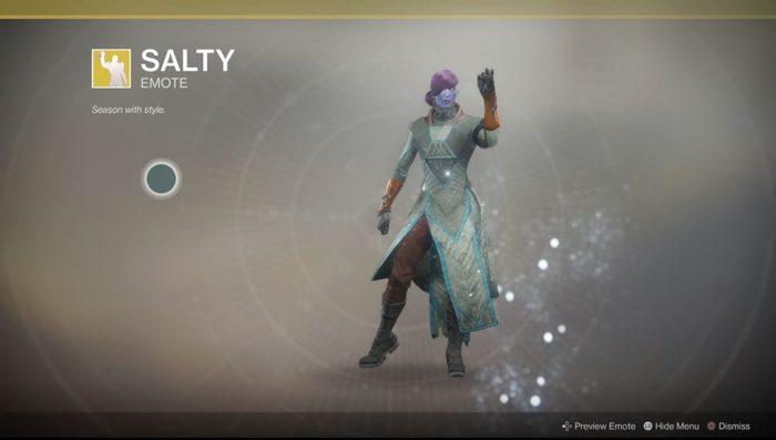 destiny 2 salty emote