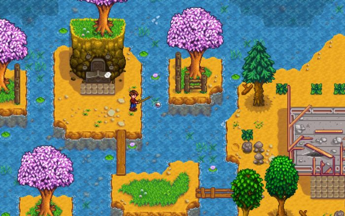 Fishing is always relaxing, but chatting with friends on Stardew Valley multiplayer will be even better.