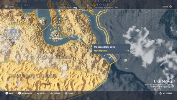 Assassin Creed Origins All Stone Circles Locations