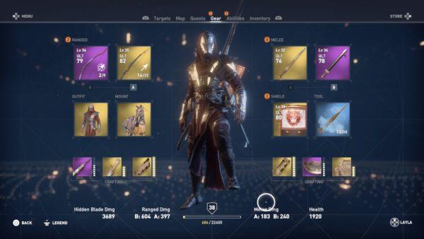 isu armor, assassin's creed origins