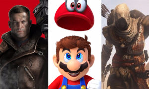 assassin's creed, origins, super mario odyssey, wolfenstein