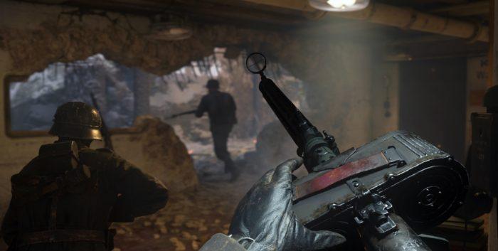 Call of Duty WWII Gameplay machine gun