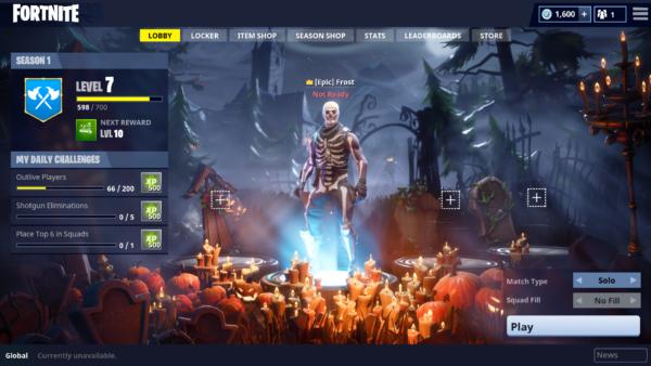 Fortnite Battle Royale Gets a Huge Halloween Patch