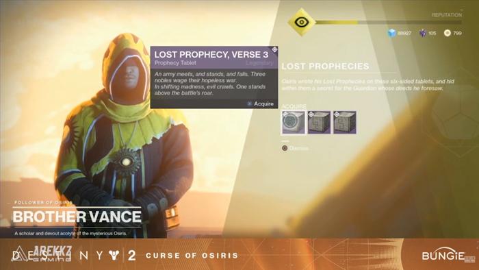 Destiny 2 Lost Prophecies