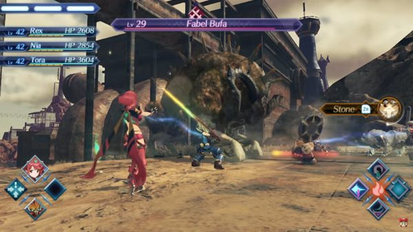 xenoblade 2 chronicles battle