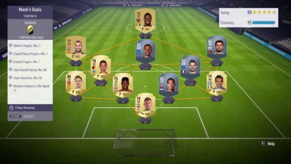 FIFA 18, Squad Building Challenges