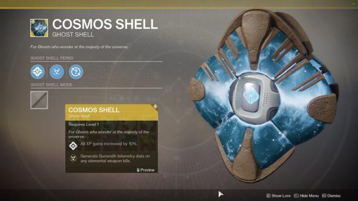 cosmos shell