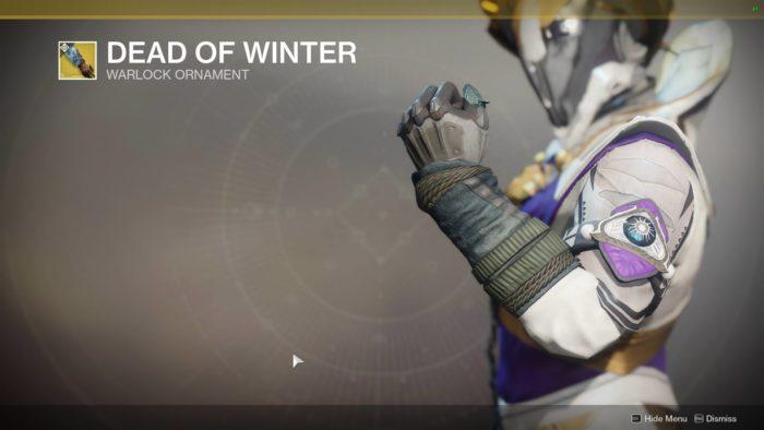dead of winter destiny 2 ornaments