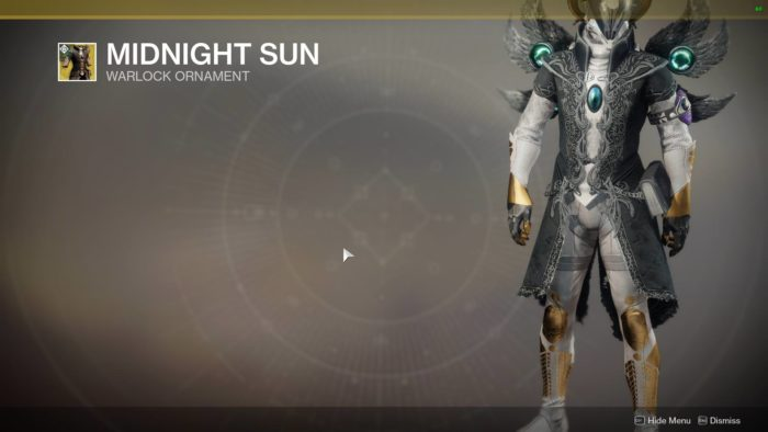 destiny 2 midnight sun ornament
