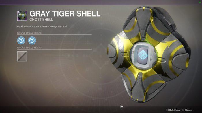 gray tiger shell