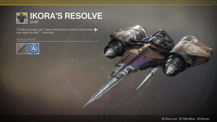 ikora's resolve ship