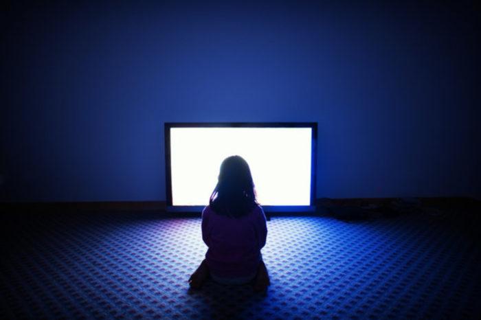 Staring at TV