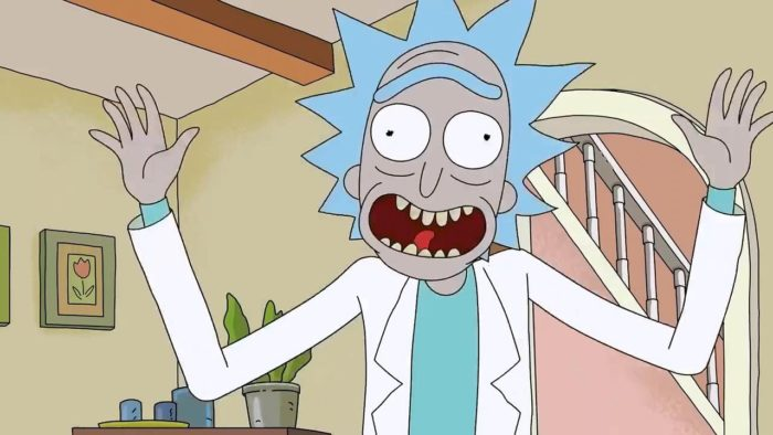 rick and morty fourth wall