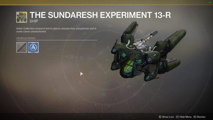 the sundaresh experiment