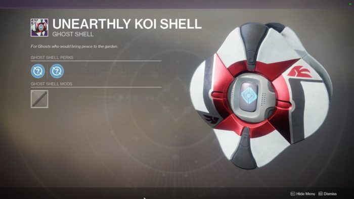 unearthly koi shell