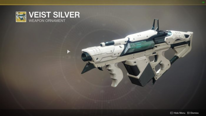 veist silver destiny 2 ornaments