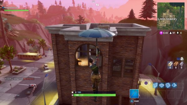 how to get under the map in tilted towers