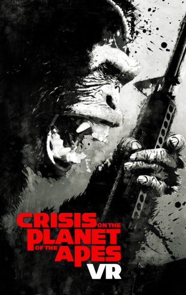 Crisis on the planet of the apes poster