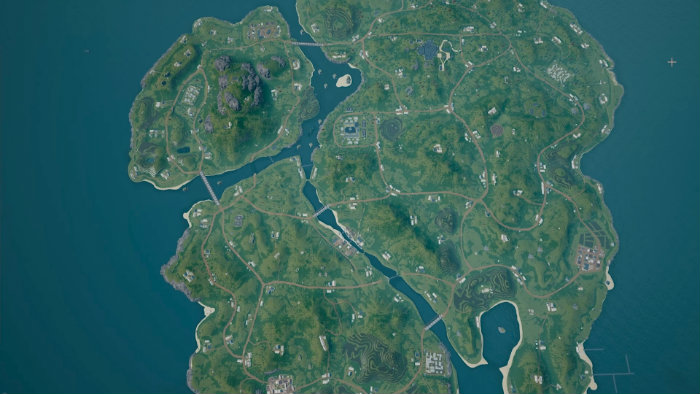 PUBG 4x4km Map Overhead