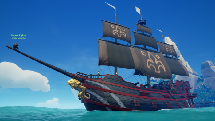 Sea of Thieves upgraded ship