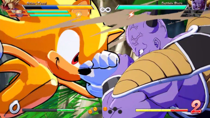 sonic, dragon ball fighterz, mods