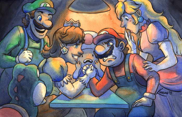 Mario Arm Wrestling