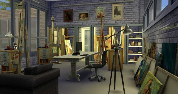 art studio, sims 4, house ideas