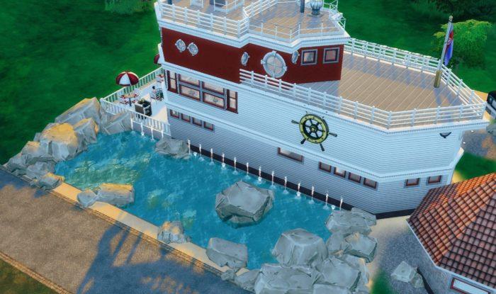 sims 4, house boat, house ideas