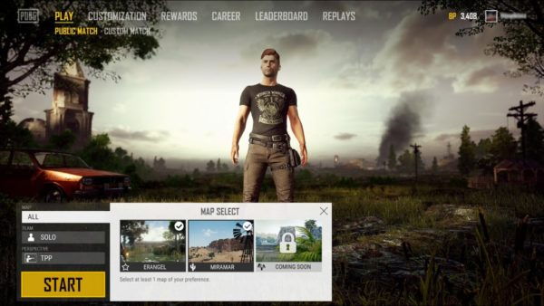 pubg how to choose map