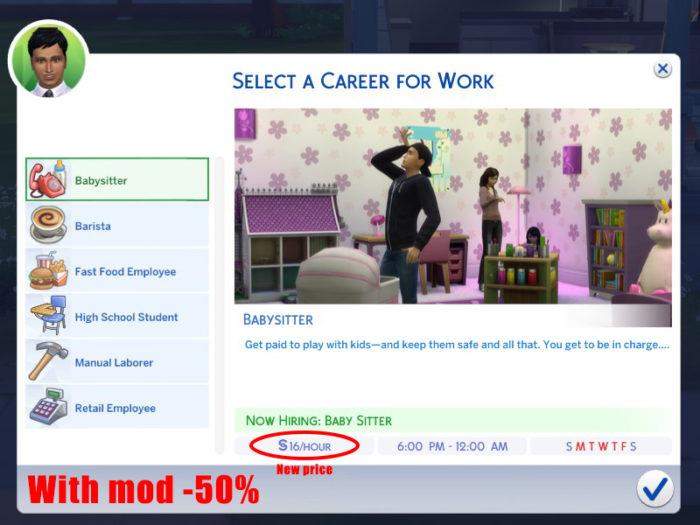 sims jobs