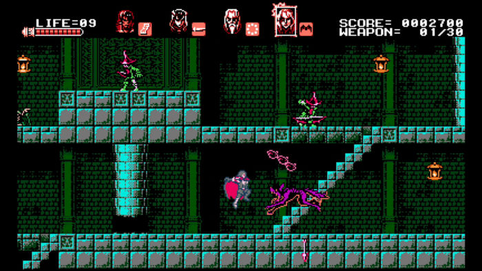 Bloodstained Curse of the Moon Gebel