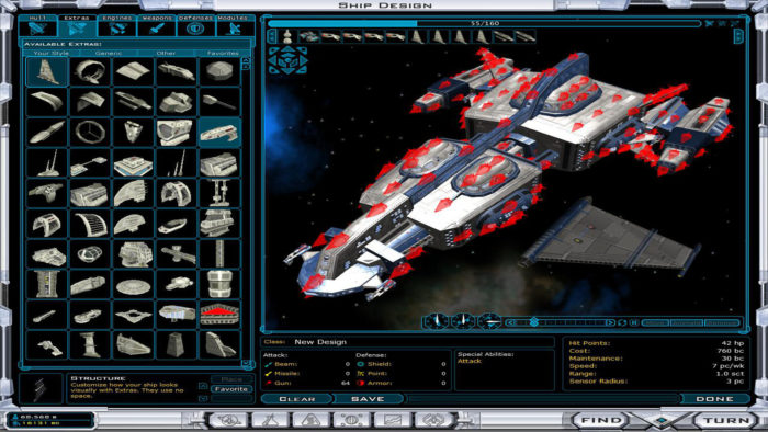 Galactic Civilizations 2 Ship