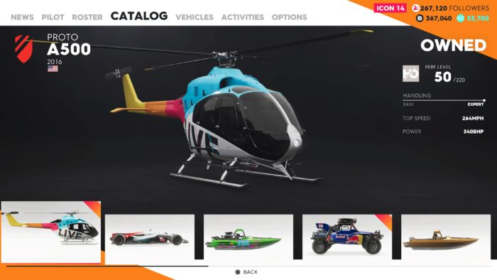 The Crew 2 helicopter
