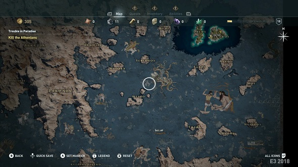 Image result for assassin's creed odyssey map