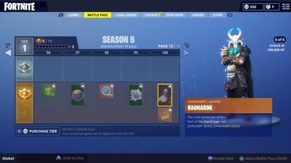 Fortnite What The Season 5 Tier 100 Reward Is