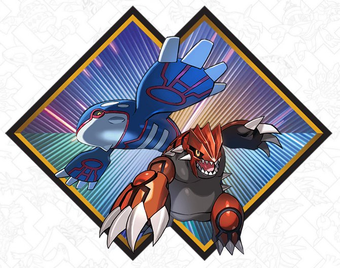 Pokemon Groudon and Kyogre