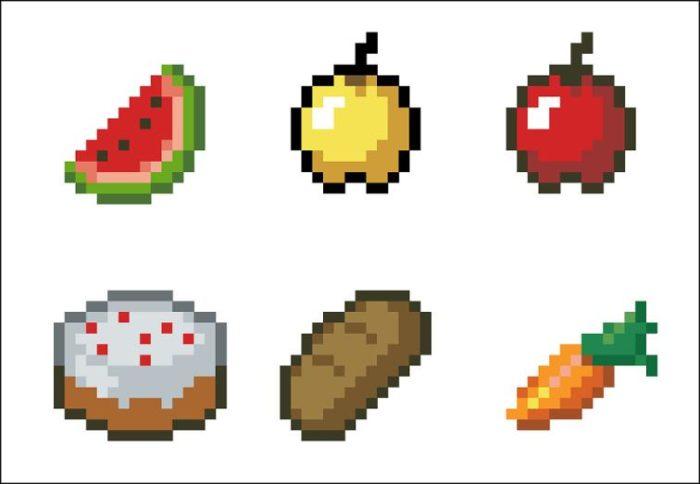 minecraft food chart - 700×484