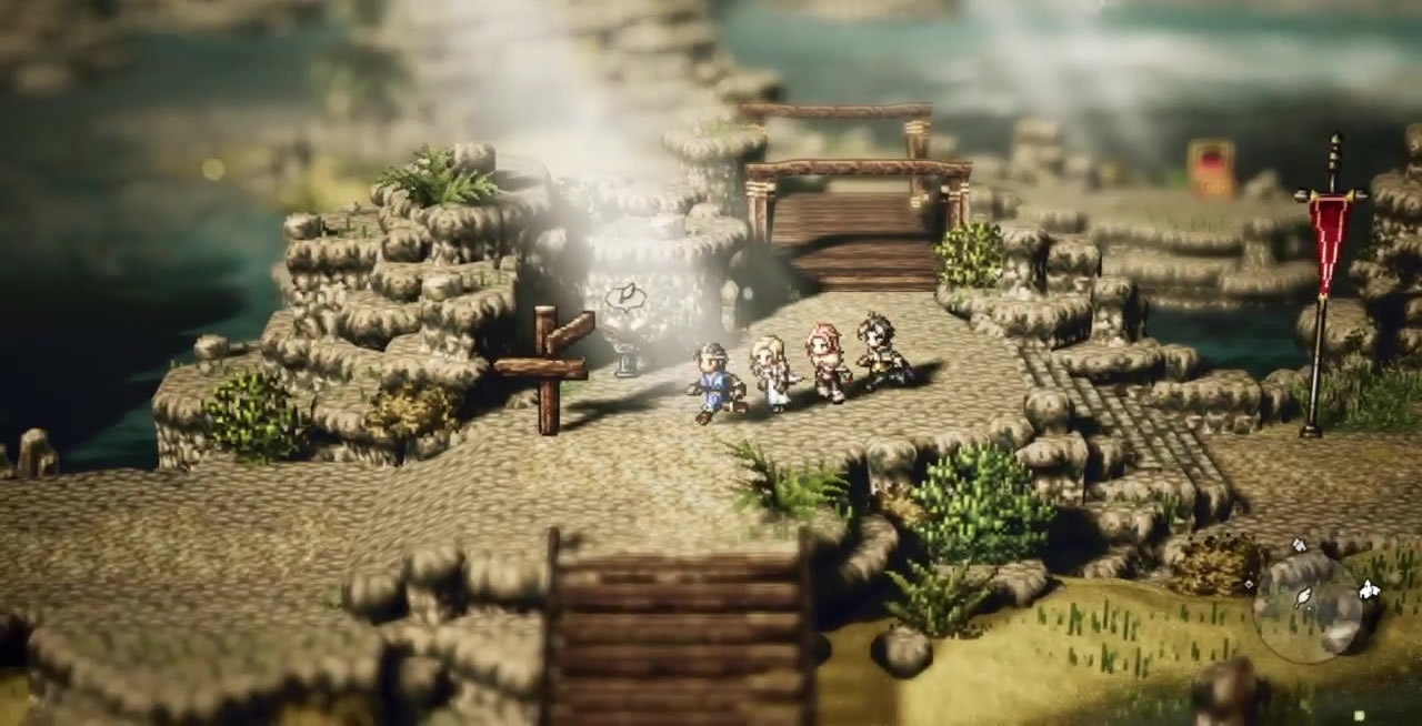 octopath traveler, change characters