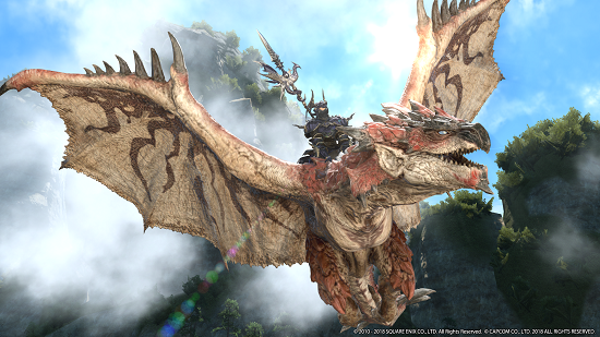 Fight the Terrifying Rathalos in Final Fantasy XIV In ...