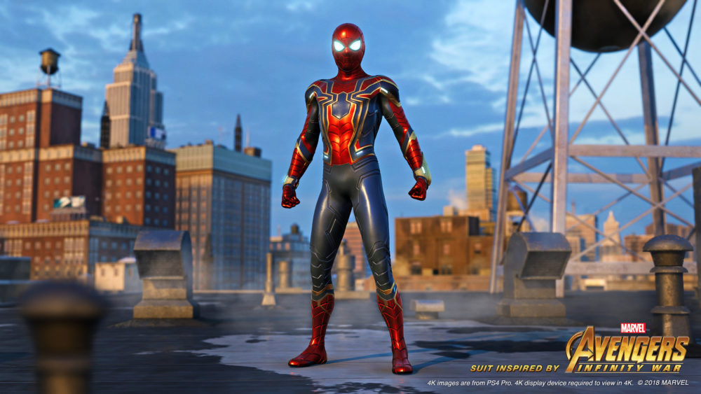 spider-man ps4, change suits
