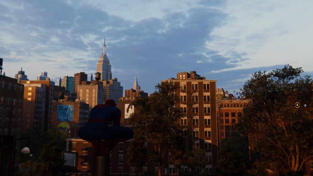 spider-man ps4, scan environment, open world, open map, cross map, building corners, backpacks, how, long, cross, map, big