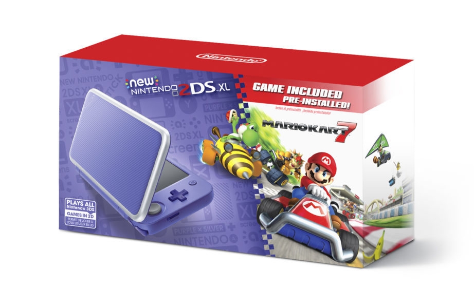 New 2DS XL purple + silver