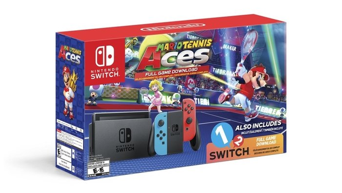nintendo switch, mario tennis aces, 1-2-switch